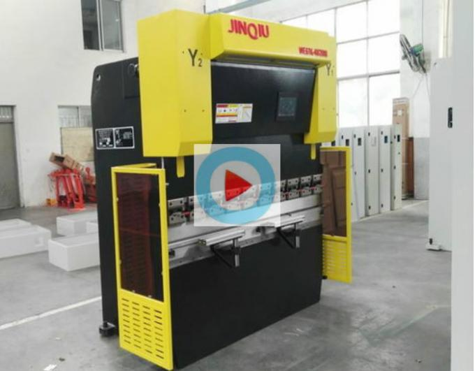 Panel baja / Box Berbentuk CNC Press Brake Machine 2000mm Panjang Bagian Punching